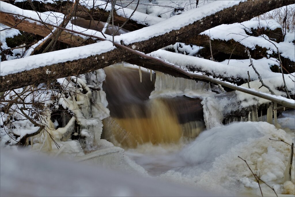Veebruarikuine jää ja lumi